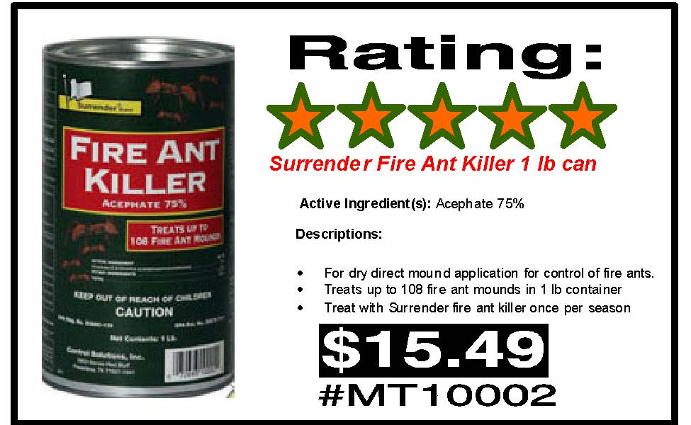 Surrender Fire Ant Killer S Amp S Home Center