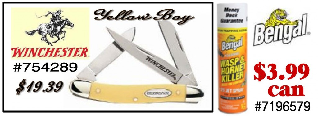 Winchester Quot Yellow Boy Quot Pocket Knife Bengal Wasp Amp Hornet