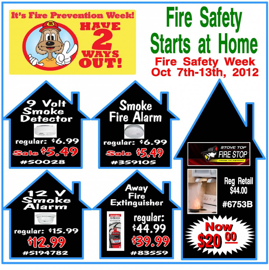 Oct 7 13 Fire Safety Week Smoke Alarms Fire