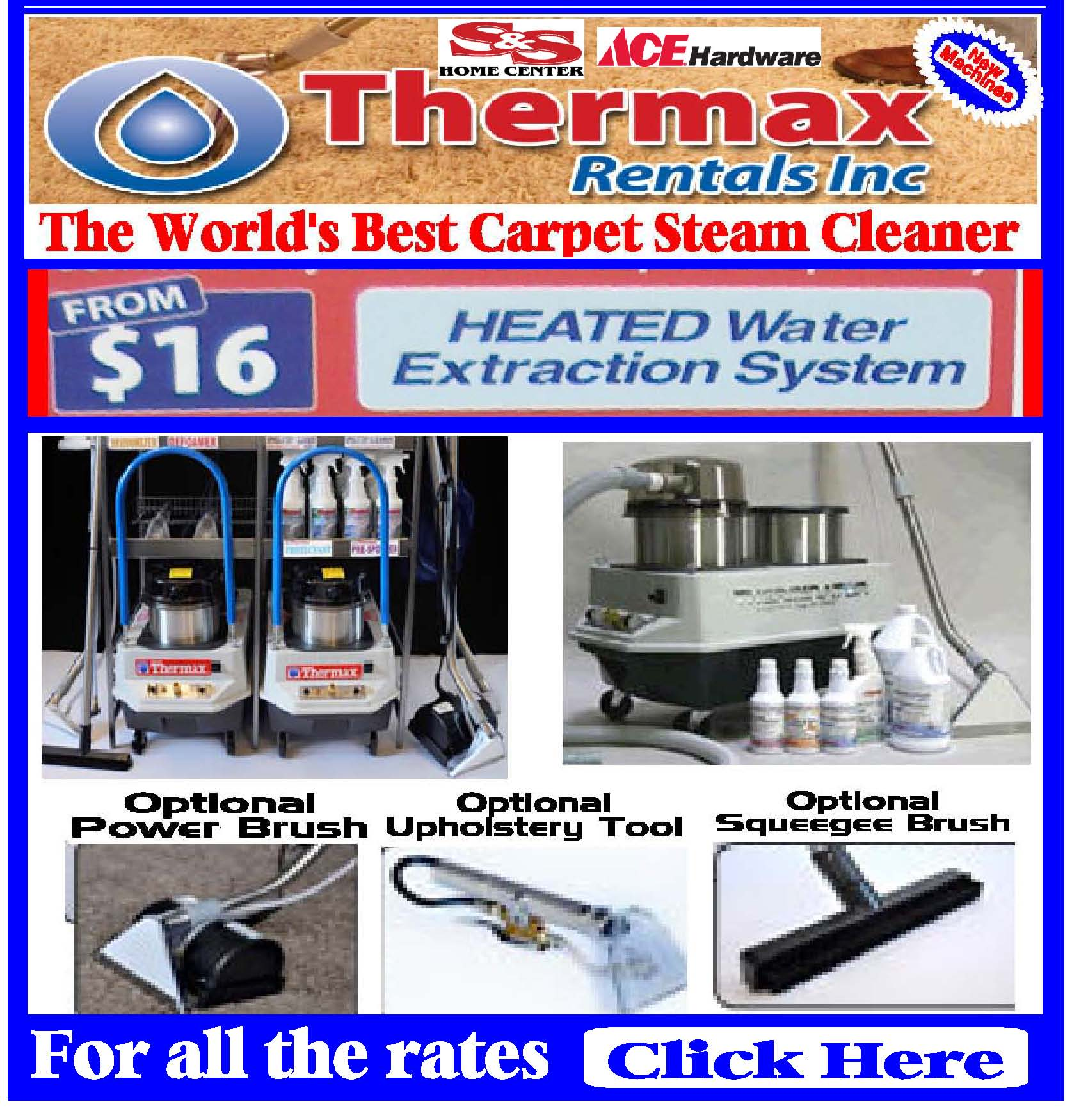 Thermax Steam Cleaner S Amp S Home Center