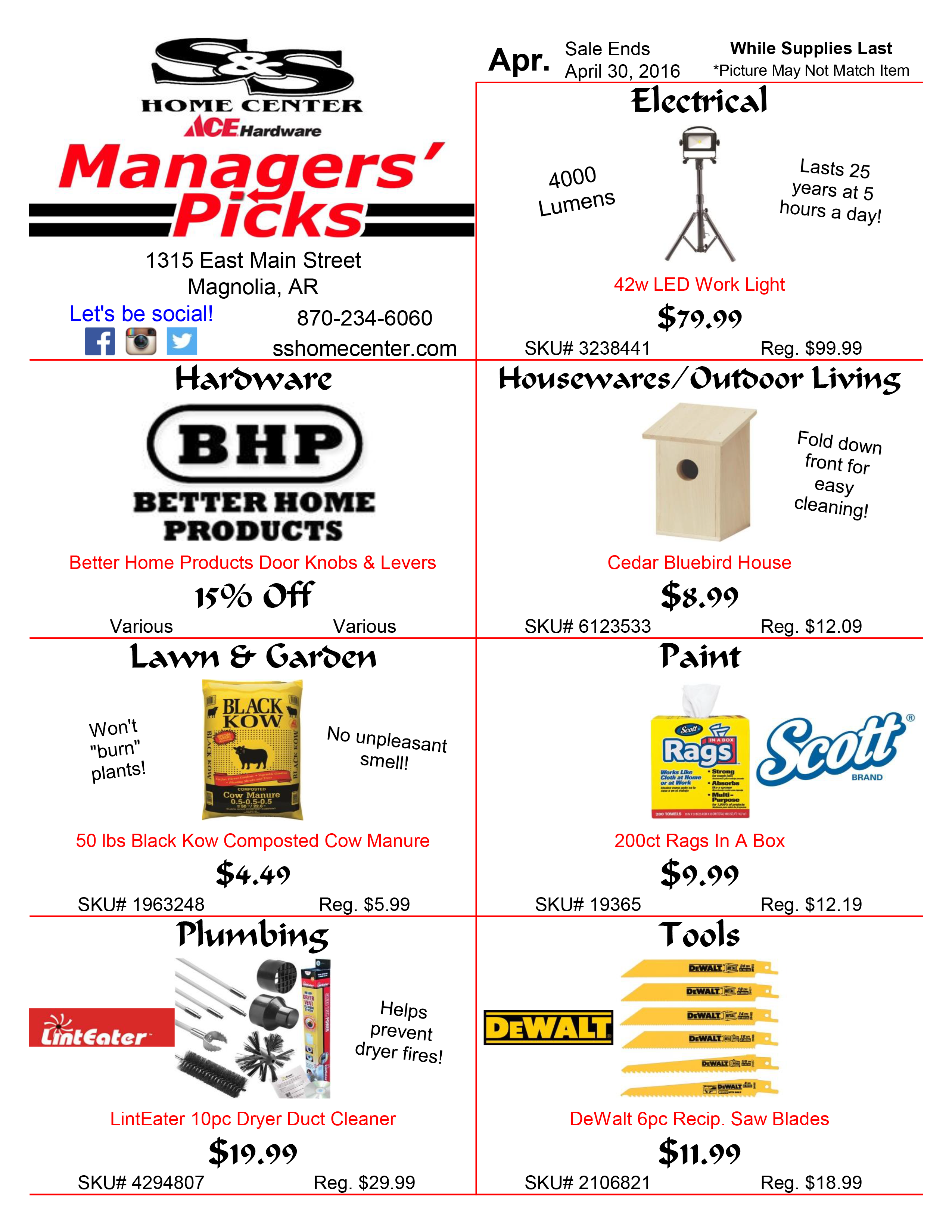 Managers Pick Flyer 4 16 S Amp S Home Center