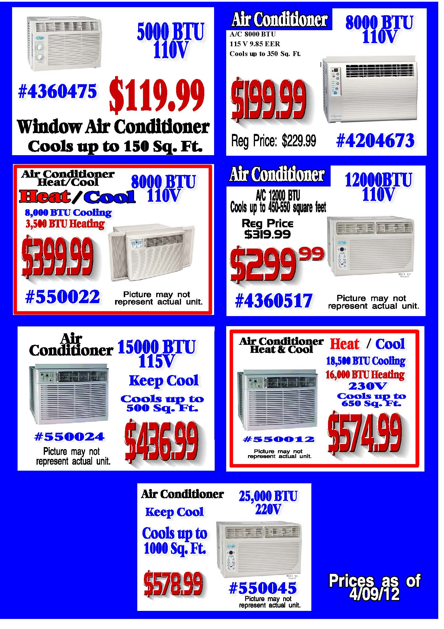 Air Conditioners Window Units S Amp S Home Center