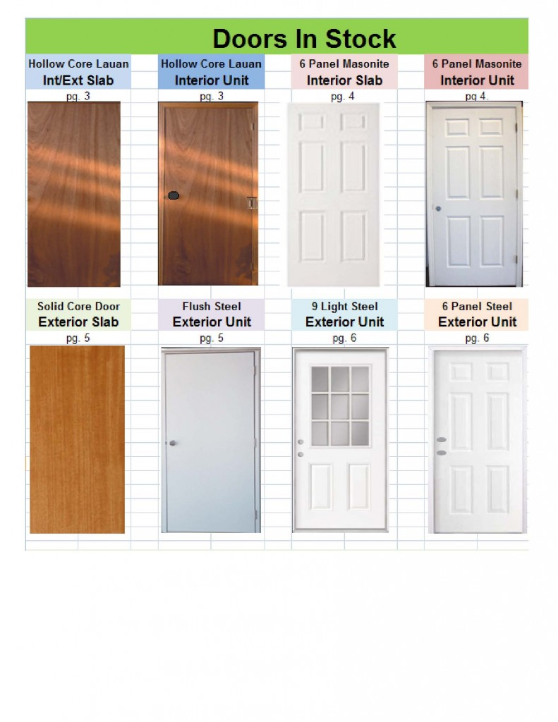Doors Interior Exterior And Special Order Options S Amp S