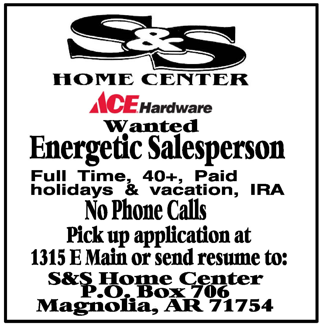 Employment S Amp S Home Center