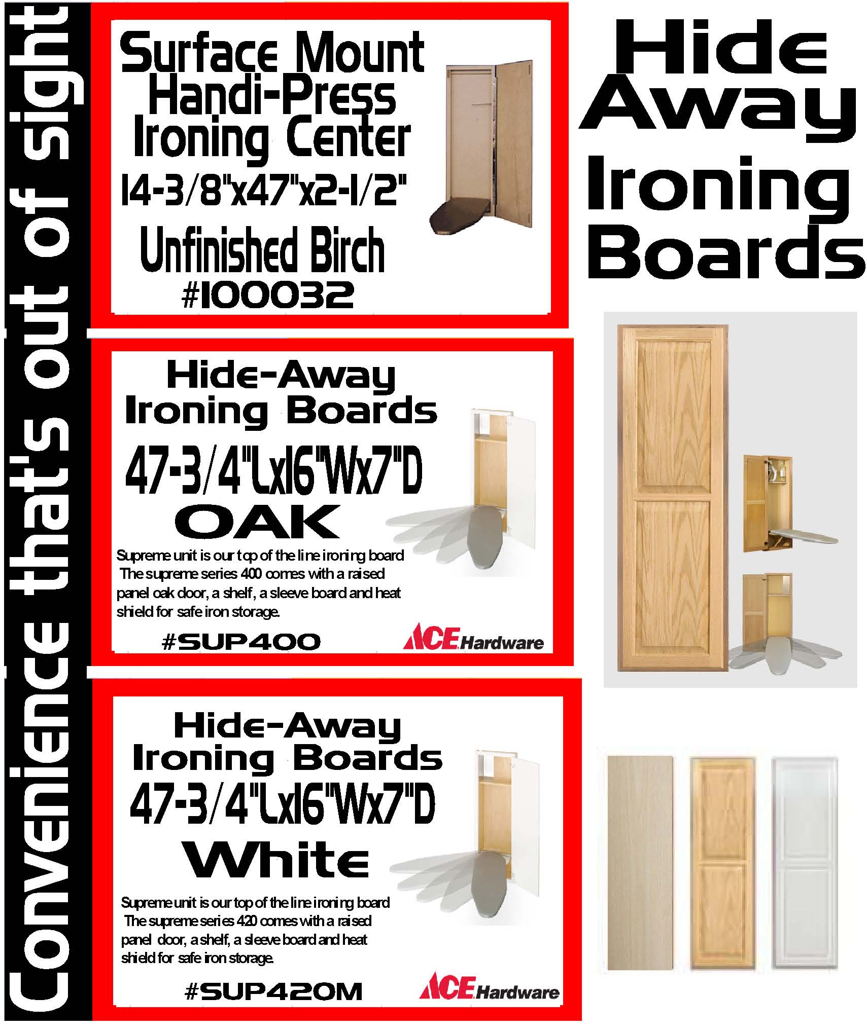 Hide Away Ironing Boards S Amp S Home Center