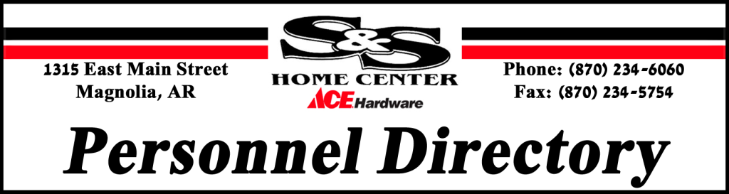Sales Personnel Directory S Amp S Home Center
