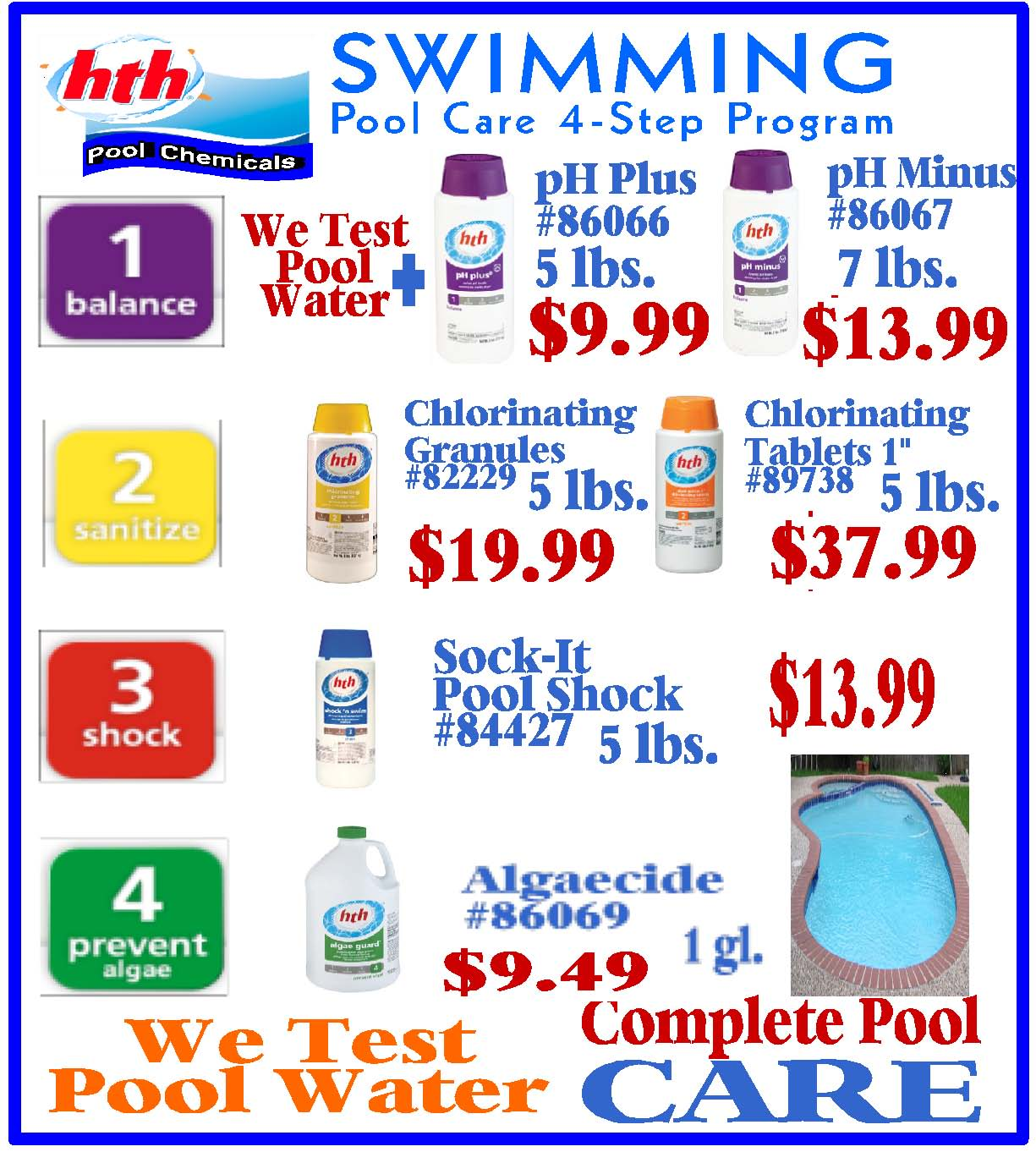 Swimming Pool Care : Swimming pool care step program s home center