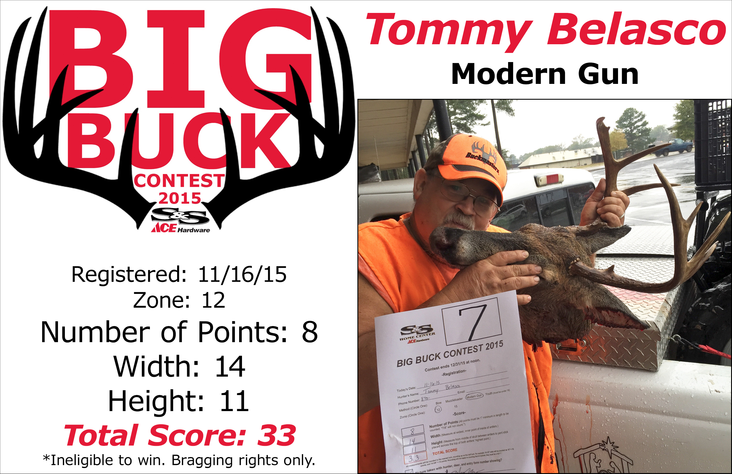 Big Buck Contest S Amp S Home Center