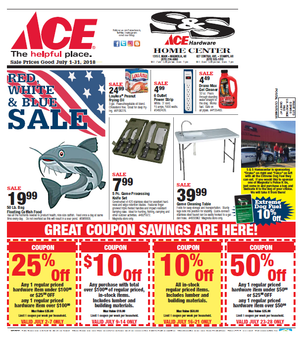 July Sales Page 4 SampS Home Center